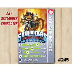 Skylanders Trap Team Game Card Invitation | HogWildFryno