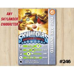 Skylanders Trap Team Game Card Invitation | Bouncer