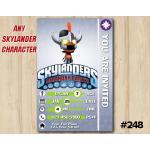 Skylanders Trap Team Game Card Invitation   RageMage   Personalized Digital Card