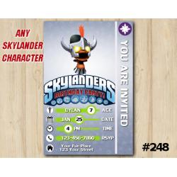 Skylanders Trap Team Game Card Invitation | RageMage