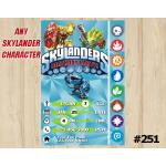 Skylanders Trap Team Game Card Invitation | Wildfire, FoodFight, Thumpback | Personalized Digital Card