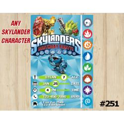 Skylanders Trap Team Game Card Invitation | Wildfire, FoodFight, Thumpback