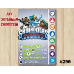 Skylanders Game Card Invitation | KryptKing, SnapShot, TreadHead  | Personalized Digital Card