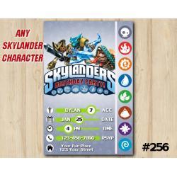 Skylanders Game Card Invitation | KryptKing, SnapShot, TreadHead