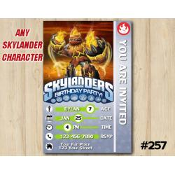 Skylanders Hot Head Game Card Invitation | HotHead