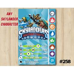 Skylanders Game Card Invitation | SnapShot, KryptKing, TreadHead