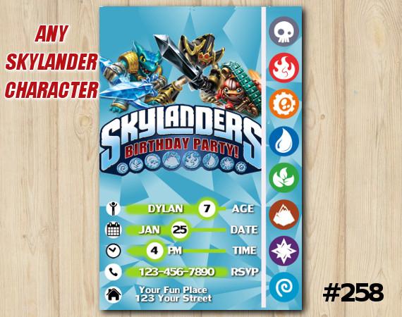 Skylanders Game Card Invitation | SnapShot, KryptKing, TreadHead  | Personalized Digital Card