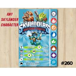Skylanders Trap Team Game Card Invitation | Wallop, FoodFight, WashBuckler