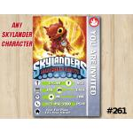 Skylanders Trap Team Game Card Invitation | HotDog | Personalized Digital Card