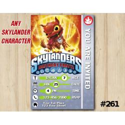 Skylanders Trap Team Game Card Invitation | HotDog