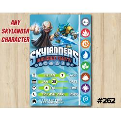 Skylanders Trap Team Game Card Invitation | Kaos, Snapshot