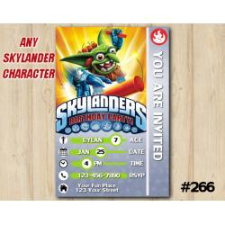 Skylanders Game Card Invitation | Boomer