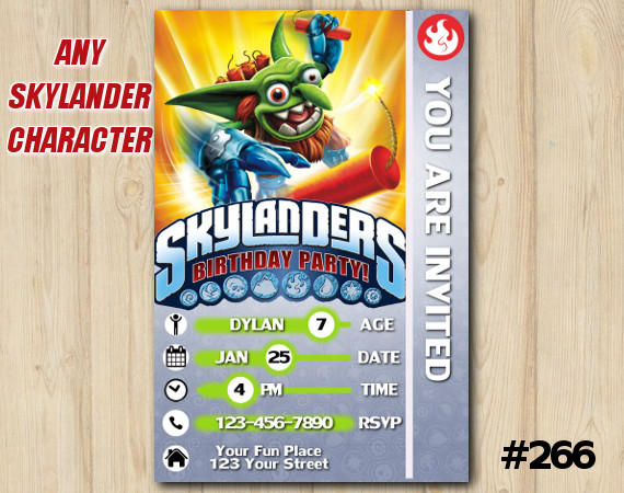 Skylanders Game Card Invitation | Boomer | Personalized Digital Card