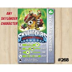 Skylanders Game Card Invitation | Shroomboom