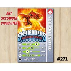 Skylanders Game Card Invitation | Eruptor