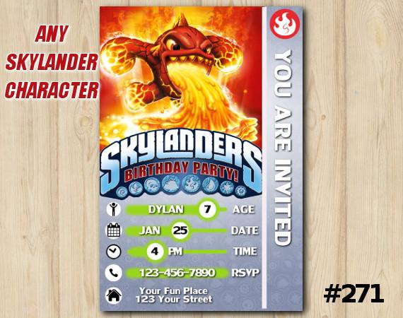 Skylanders Game Card Invitation | Eruptor | Personalized Digital Card