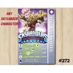Skylanders Snap Shot Game Card Invitation | HootLoop