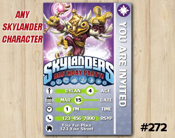 Skylanders Snap Shot Game Card Invitation | HootLoop | Personalized Digital Card