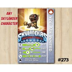 Skylanders Bob Mini Game Card Invitation | BobMini
