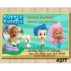Bubble Guppies Invitation with Photo