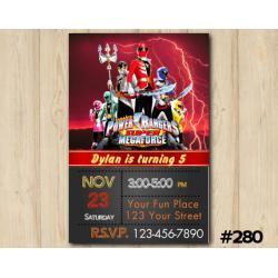 Power Ranger Megaforce Invitation