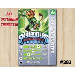 Skylanders Snap Shot Game Card Invitation   TuffLuck   Personalized Digital Card