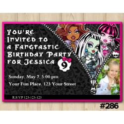 Monster High Invitation with Photo