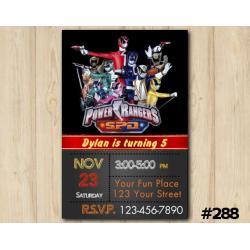 Power Ranger SPD Invitation