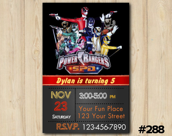 Power Ranger SPD Invitation | Personalized Digital Card
