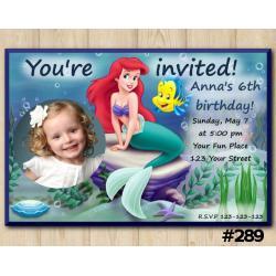 Ariel Invitation with Photo