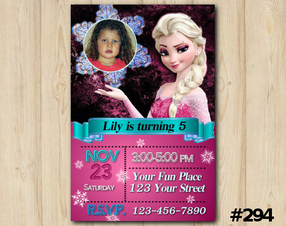 Frozen Invitation with Photo   Personalized Digital Card