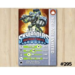 Skylanders Game Card Invitation | Crucher