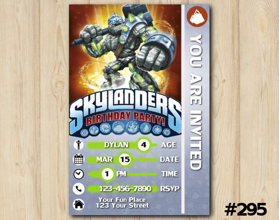 Skylanders Game Card Invitation | Crucher | Personalized Digital Card