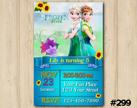 Frozen Fever Invitation | Personalized Digital Card