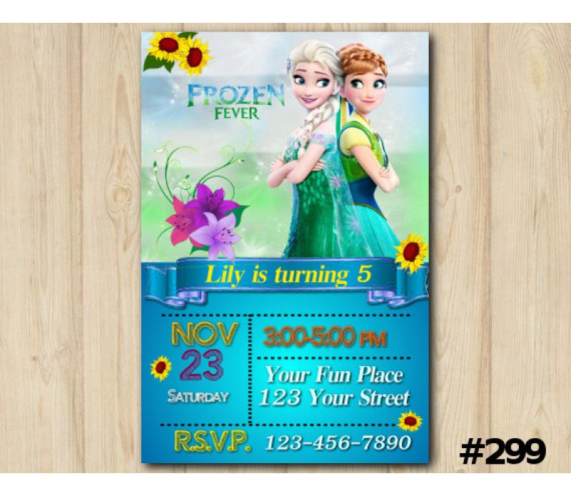 Frozen Fever Invitation Personalized Digital Card