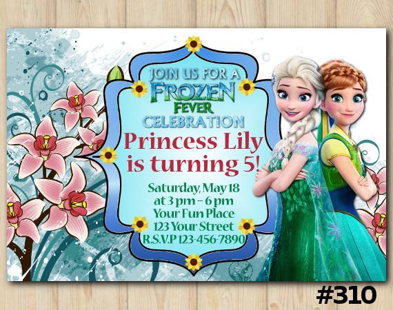 Frozen Fever Invitation | Personalized Digital Card