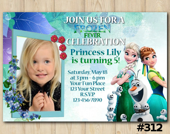 Frozen Fever Invitation with Photo | Personalized Digital Card