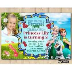 Frozen Fever Invitation with Photo