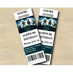 TMNT ticket Invitation
