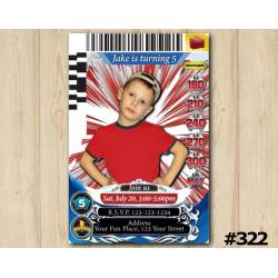 Power Rangers Game Card Invitation with Photo