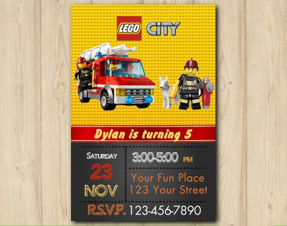 Lego Invitation | Personalized Digital Card