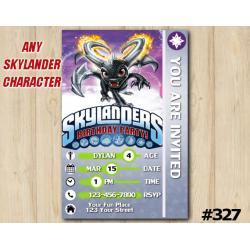 Skylanders Game Card Invitation | DarkSpyro