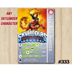 Skylanders Trailblazer Game Card Invitation | TrailBlazer