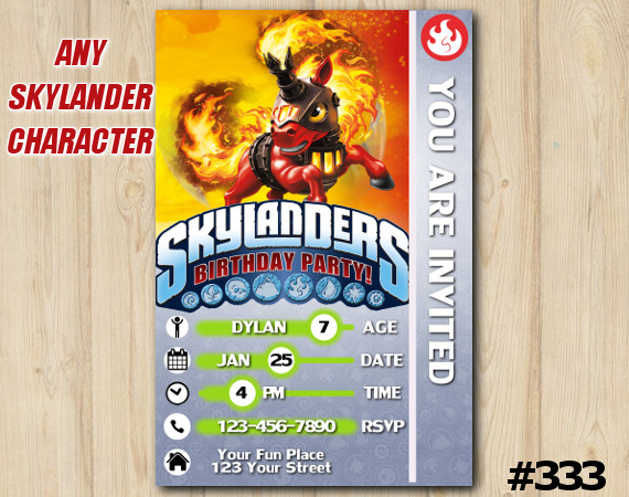 Skylanders Trailblazer Game Card Invitation | TrailBlazer | Personalized Digital Card