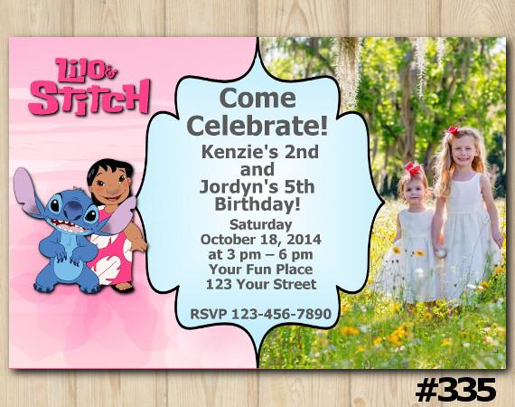Lilo & Stitch Invitation | Personalized Digital Card
