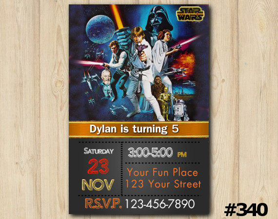 Star Wars Invitation | Personalized Digital Card