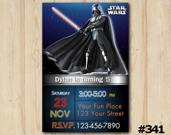 Star Wars Invitation   Personalized Digital Card