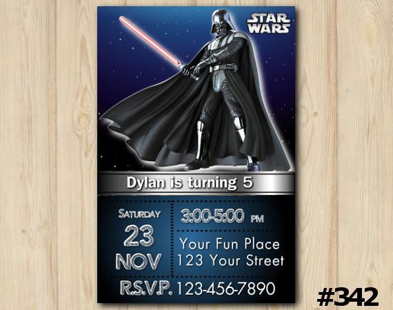 Star Wars Invitation | Personalized Digital Card