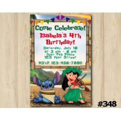 Lilo & Stitch Invitation