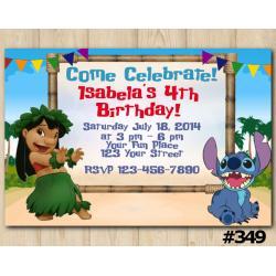 Lilo & Stitch Invitation